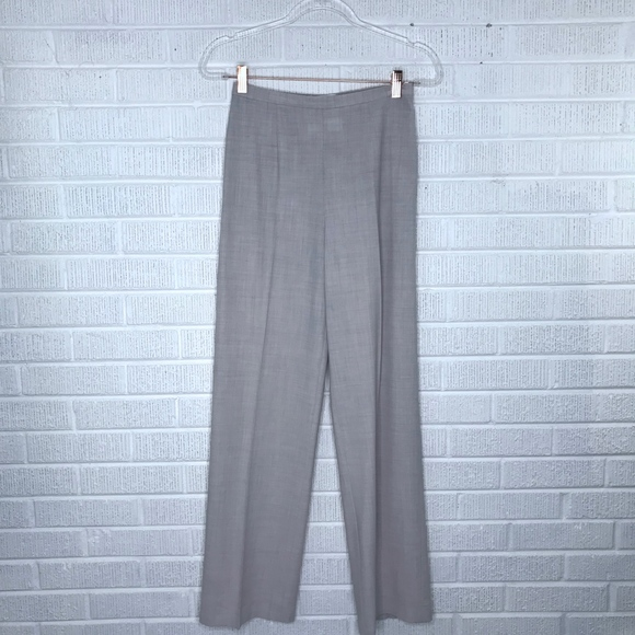 MaxMara Pants - MaxMara Wool Blend High Rise Trouser Pants Cream 2